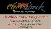 Chocabeck, restaurant, cafè and good pizza